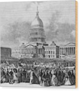 Lincoln Inauguration, 1865 Wood Print