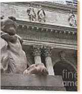 Lion New York Public Library Wood Print