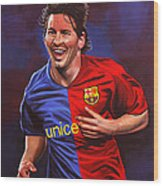 Lionel Messi  Wood Print by Paul Meijering