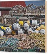 Lobster Fishing Wood Print by Elena Elisseeva