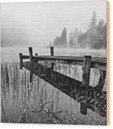 Loch Ard Early Mist Wood Print