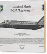 Lockheed Martin F-35a Lightning II Joint Strike Fighter Wood Print
