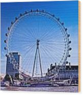 London Eye Wood Print