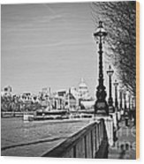 London View From South Bank Wood Print