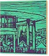 Long Center Wood Print