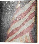 Long May She Wave Wood Print