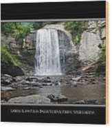 Looking Glass Falls North Carolina Wood Print