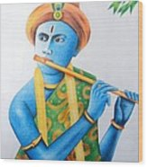 Lord Krishna Wood Print