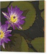 Lotus Wood Print