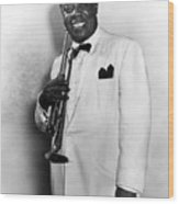 Louis Armstrong (1900-1971) Wood Print by Granger
