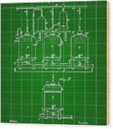 Louis Pasteur Beer Brewing Patent 1873 - Green Wood Print