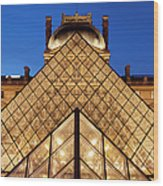 Louvre Pyramid Wood Print