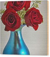 Love Red Wood Print