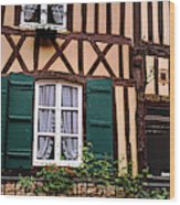 Low Angle View Of Houses Wood Print