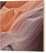 Lower Antelope Canyon Tones And Curves Wood Print by Robert Jensen