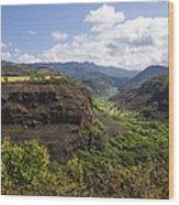 Lower Waimea Canyon Wood Print