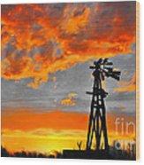 Lubbock Skyline Wood Print by GCannon