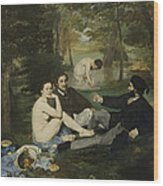 Luncheon On The Grass Wood Print