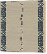 Macfadden Written In Ogham Wood Print
