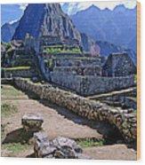 Machu Picchu Peru Wood Print