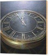 Macro Antique Watch Midnight Wood Print