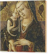 Madonna And Child Wood Print by Carlo Crivelli