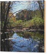 Mansfield Hollow Lake Wood Print