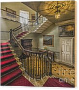 Mansion Stairway Wood Print