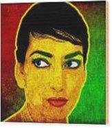 Maria Callas Wood Print