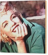 Marilyn Monroe Large Size Portrait Wood Print
