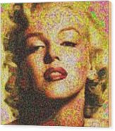 Marilyn Monroe - 100 Dollars Wood Print