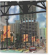 Marina Towers -chicago Wood Print