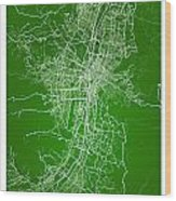 Medellin Street Map - Medellin Colombia Road Map Art On Colored  Wood Print