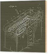 Medical Examining Table Patent 1974 Wood Print
