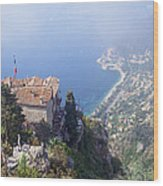 Mediterranean Below Eze 2 Wood Print