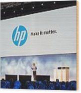Meg Whitman At Hp Discover 2012 Wood Print