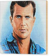 Mel Gibson Wood Print by Andrew Read
