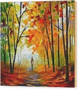 Melody Of Autumn Wood Print