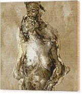 Melt Wood Print