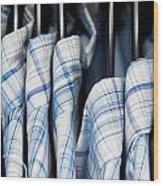 Men's Shirts Wood Print by Tom Gowanlock