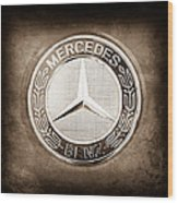 Mercedes-benz 6.3 Amg Gullwing Emblem Wood Print