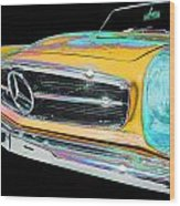 Mercedes Benz Wood Print