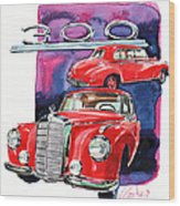 Mercedes 300 Wood Print