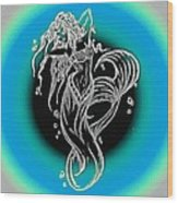 Mermaid 1 Wood Print