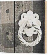 Metal Knocker Wood Print