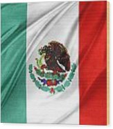 Mexican Flag Wood Print
