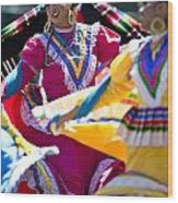 Mexican Folk Dancers Wood Print