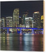 Miami Downtown Skyline Wood Print
