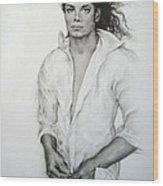 Michael Jackson Wood Print by Guillaume Bruno