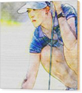 Michelle Wie - Third Round Of The Lpga Lotte Championship Wood Print